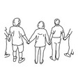 people holding hands vector image vector image