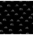 Piranha seamless pattern Many bloodthirsty marine vector image vector image