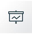presentation board icon line symbol premium vector image