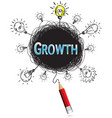red pencil idea concept blue growth education and vector image vector image