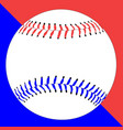 red white and baseball vector image vector image