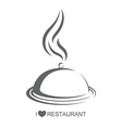 Restaurant 4 Food platter with cover vector image