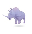 Rhino isolated vector image vector image