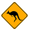 Road sign kangaroo vector image vector image