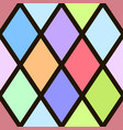 seamless pattern with colorful rhombus vector image vector image