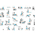seamless pattern with women doing exercises vector image vector image