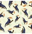 seamless texture tropical toucan vector image vector image