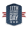 September 11th Patriot Day paper Banner vector image vector image