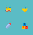 set of baby icons flat style symbols with train vector image