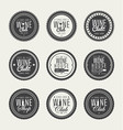 set of logos for its wine business vector image vector image