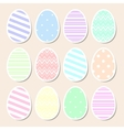 Set of pastel Easter eggs vector image vector image