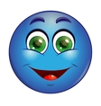 Smiling emoticon vector image vector image