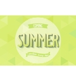 Summer inscription design vector image vector image