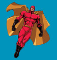 superhero flying isolated vector image vector image