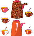 tea sketch vector image vector image