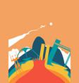 travel brazil world landmark landscape vector image vector image