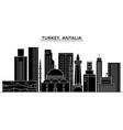 turkey antalia architecture city skyline vector image