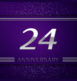 twenty four years anniversary celebration design vector image vector image