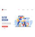 ui ux design app creation vector image