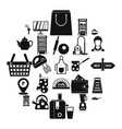 utensil icons set simple style vector image vector image