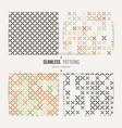 cross stitch seamless pattern set vector image