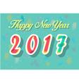 Happy New Year 2017 Watercolor numerals vector image
