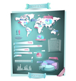 Map infographics with 3d elements vector image