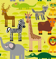 Seamless pattern background with African animals vector image