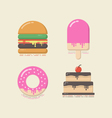 433retro flat sweet iconVS vector image