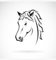 a horse head design on white background farm vector image