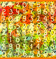 abstract seamless pattern numbers and grunge vector image