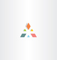 abstract triangle business colorful logo vector image vector image