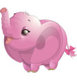 beautiful cute elephant vector image