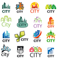big set of logos cities vector image