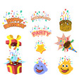 birthday gift element graphic vector image