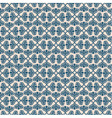 Blue retro seamless pattern on beige background vector image vector image