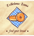 Bread On A Napkin 13 vector image vector image