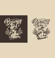 brewing vintage label vector image vector image