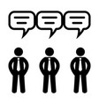 business communication icon 96x96 pictogram vector image vector image