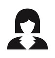 business woman icon avatar symbol female sign vector image vector image