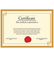 Certificate with wax stamp vector image vector image