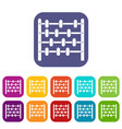 children abacus icons set flat vector image vector image