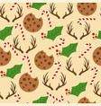 christmas seamless pattern with candy canes vector image vector image