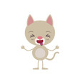 colorful caricature of cute cat disgust expression vector image vector image
