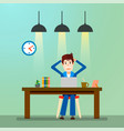 creative people freelancer happy working man vector image