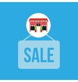 cute store shopping sale design vector image vector image