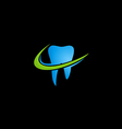 dentist tooth abstract logo vector image vector image