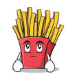eye roll french fries cartoon character vector image vector image
