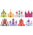 fairytale medieval towers cartoon royal kingdom vector image vector image