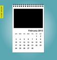 February 2013 calendaro vector image vector image